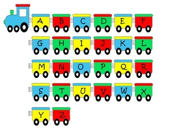 Colorful Alphabet Train Poster or Hand outs