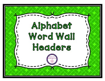 Colorful Alphabet Word Wall Headers