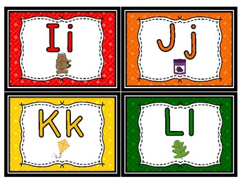 Colorful Alphabet Word Wall Headers--Small Version