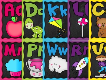Colorful Alphabet and Beginning Sounds BUNDLE