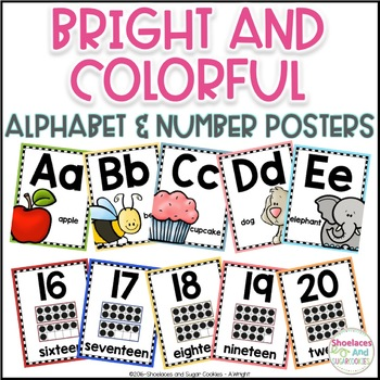 Colorful Alphabet and Number Posters