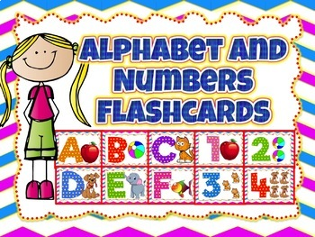 Lowercase and Uppercase Alphabet flashcards and Numbers flashcards