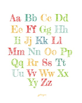 Colorful Alphabet for Classroom