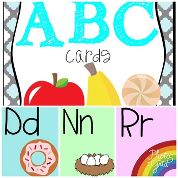Colorful Alphabet posters ***English version***