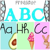 Colorful Alphabet posters ***Spanish version***