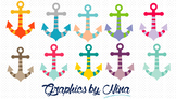 Colorful Anchors Clipart