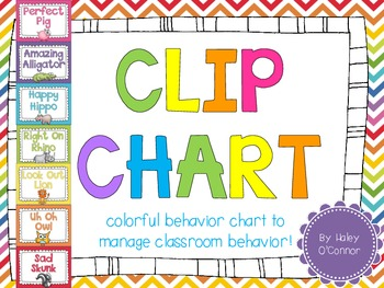 Colorful Animal Clip Chart