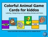 Colorful Animal Game Cards for Kiddos