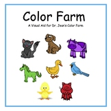Colorful Animals (Visual aid to go with Dr. Jean's Color Farm)