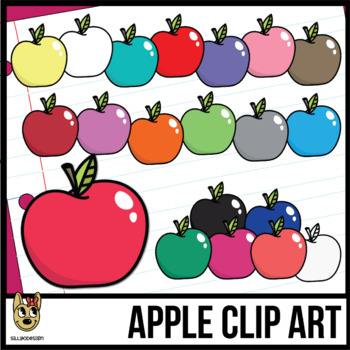 Colorful Apple Clipart