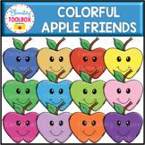Colorful Apple Friends Clipart