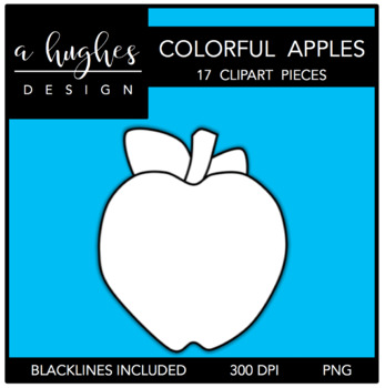 Colorful Apples 1 Clipart {A Hughes Design}