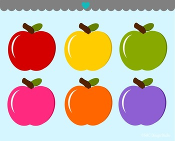 Colorful Apples Clip Art