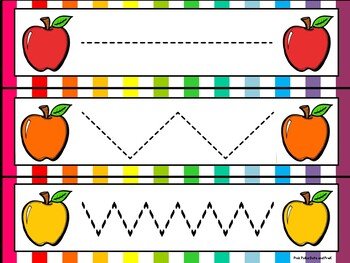 Colorful Apples Literacy and Math Small Group & Center Activities ~ ABC, Numbers