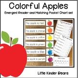 Colorful Apples Emergent Reader and Pocket Chart Sentence Set