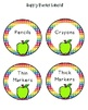 Colorful Apples (with rainbow and chevron too) Room Decor Theme Kit!