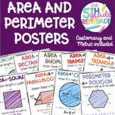 Colorful Area and Perimeter Posters- Polygons and Circles