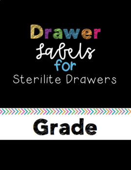Colorful Arrow - Large Drawer Labels [Sterilite Drawers]