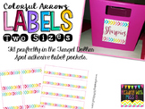 Colorful Arrows EDITABLE Lables