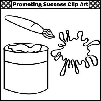 Paint Clip Art, Primary Colors Recognition, Paintbrush Clipart, Painter SPS