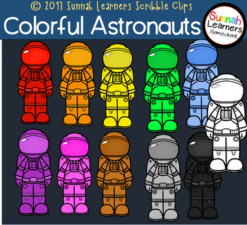 Colorful Astronauts