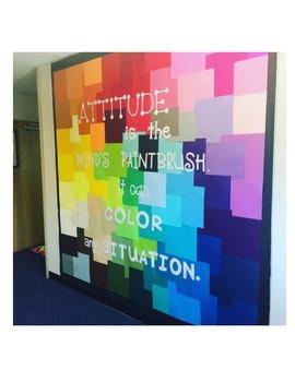 """Colorful """"Attitude"""" Bulletin Board Letters"""