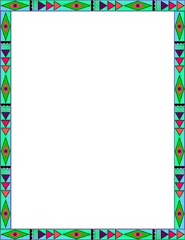 Colorful Aztec Frames