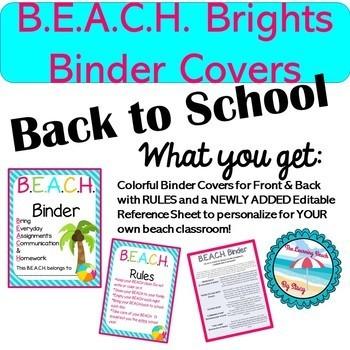 Colorful B.E.A.C.H. Binder Cover {Parent Communication Tool}