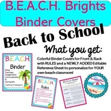 Colorful B.E.A.C.H. Binder Cover {Parent Communication Tool}