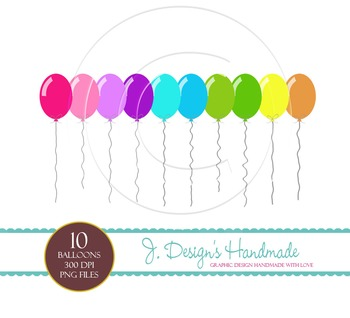 Colorful Balloon Clipart - Party Balloons - Balloon Images