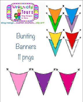Colorful Banner Bunting with Blackline