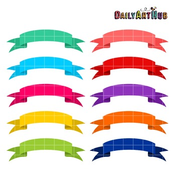 Colorful Banners Clip Art - Great for Art Class Projects!