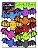 Colorful Bats {Creative Clips Digital Clipart}