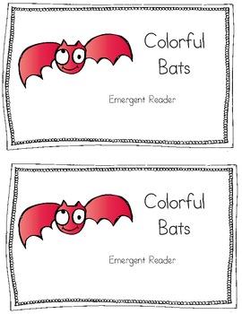 Colorful Bats Emergent Reader
