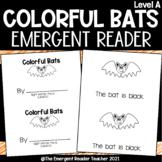 Colorful Bats Emergent Reader- Level A Printable Booklet