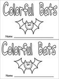 Halloween Colorful Bats Emergent Reader- Kindergarten- Color Words