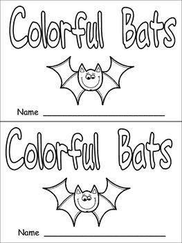 Halloween Colorful Bats Emergent Reader- Kindergarten- Col