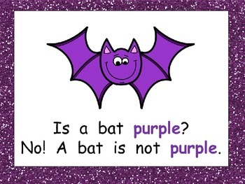 Colorful Bats Shared Reading PowerPoint- Kindergarten- Halloween and Color Words