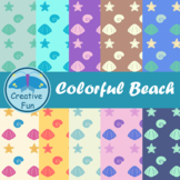 Colorful Beach Digital Paper