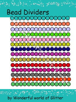 Colorful Bead Dividers