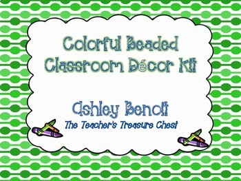 Colorful Beaded Classroom Decor Kit