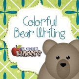 Colorful Bear Writing