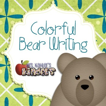 Colorful Bear Writing