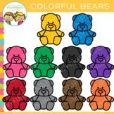 Colorful Bears Clip Art