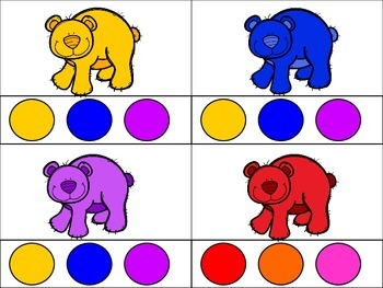 Colorful Bears Literacy and Math Activities