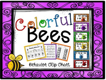 Colorful Bees Behavior Clip Chart