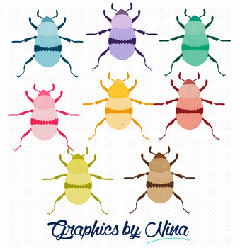 Colorful Beetle Clipart