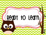 Colorful Behavior Chart Owl Theme