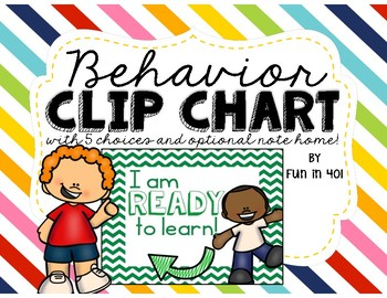 Colorful Behavior Clip Chart