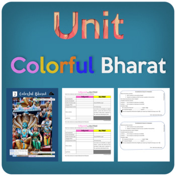 Colorful Bharat: a complete chapter about India